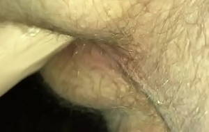 Anal dildo on every side ass juice