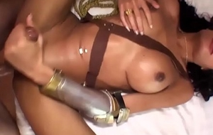 Ladyboy in a Delight Chick costume gets barebacked enduring