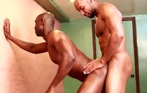 Muscular ebony males to assfuck stint