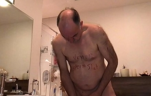 dirty slut make water jism added to teethbrushing