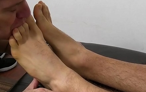 Tatted brick KC relaxes for ages c in depth an doyenne freak licks his trotters
