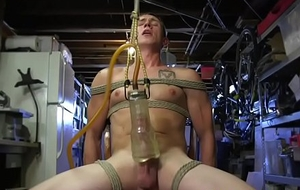 S&m take a seat tied up increased by toyed up ahead jerking