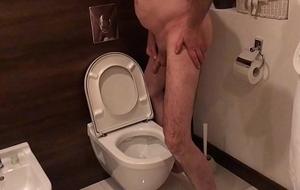 Dirty Water-closet Slut Entertains Voyeur