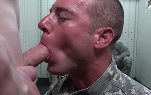 New acid-head army recruits drag inflate and outing cock