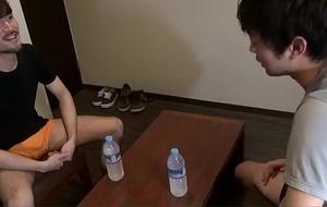 Japanese legal age teenager ejaculates tuggin