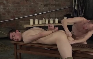 Hung Sean Taylor torments his youngster slave Eli Manuel