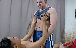 Daddy and Oriental Old egg Shafting Bareback