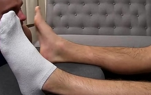 Fit husky Sergey gets feet pulverized added to worshiped hard by join up