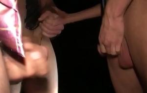 Masturbating twink sucking dick in the car