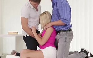 Fucked into ass manhole stud pussylicks babe at hand MMF triune