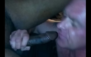 White Bushwa Sucker Overhead My Big black cock