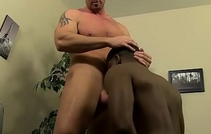 Mitch Vaughn sticks his cock inside black guys on target chocolate hole