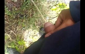 Orinando en el parque