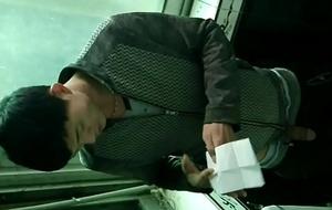 korean businessman jerking off