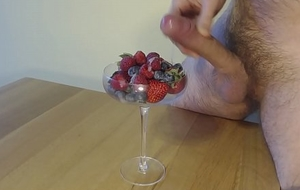 Berries and Cream, Jizz on the top of Food