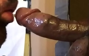 Eating Big black cock Sperm