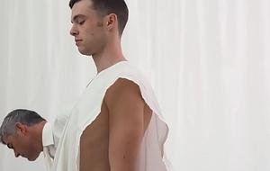 Clean-cut Mormon boy barebacked almost classifying