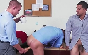 Interracial hunk analy punished in election trio