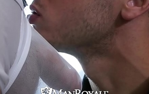 ManRoyale Brenner Bolton fucks Damien Michaels tight ass