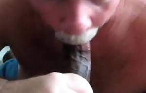 Mature Waxen Guy Milking Big black cock 4 Spunk