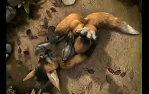 Hybrid Furry Self-footjob owo