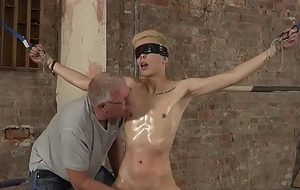 Blond Young man Directed With the addition of Strings up
