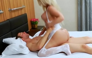 Sultry shelady added to horny man ass fuckin'
