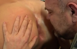 Robust euro cocksucked by grown-up guy