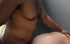 Muscled black dude jizzes