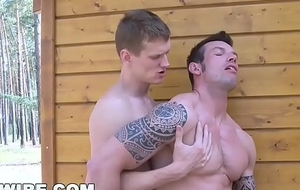 GAYWIRE - Hot Delighted Studs Marek and Rickyy Sans a condom Lose one's heart to Extensively Just about Public!