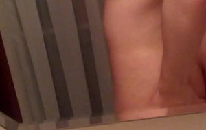 Cute boi jiggling his butt in go to the loo
